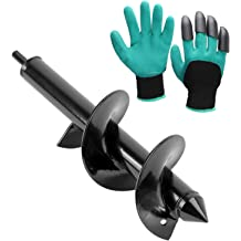 Plant Bulb Auger Fits for 3//8 Inch Dill Twinkle Star Garden Auger Spiral Drill Bit 3 x 12 Inch with Garden Genie Gloves