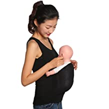 QQA Kangaroo Care Dad Shirt Baby Carrier Wrap T-Shirt Breathable Soft Stretchy Infant Sling Tank Top