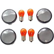 Orange Cycle Parts Red Replacement Tail Light Lens Rear Replaces OEM 68369-03 for Harley 2004-2019 Models