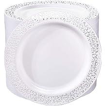 6 PCS Ultralight Dessert//Appetizer Plates Lunch and More Cheese Rectangular Salad Plates for Fruit Dessert
