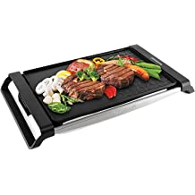 Mageshi 1500W 14 Commercial Electric Countertop Griddle Stainless Steel Adjustable Temp Control Restaurant Grill US Delivery