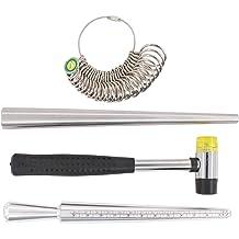 Pupuka Ring Sizer Ring Mandrel Gauge Tool US Size 2-15 US Standard Ring Size Measure Tool Finger Gauger Jeweler Sizer Mandrel Jewelers Sizers Tool