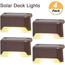 Step and Fences VFFUNNX Solar Deck Lights 12 Pcs Stairs Warm White Patio Solar Step Lights Outdoor Waterproof Led Solar Fence Lamp for Garden Outdoor Pathway