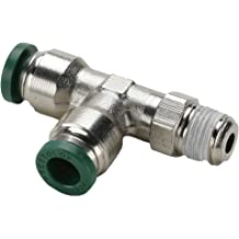 Pack of 20 Push-to-Connect and BSPP Female Pipe Connector 4 mm and M5X0.8 mm Tube to Pipe Nickel Plated Brass Parker 66LF-4M-M5-pk20 Push-to-Connect Nickel Plated Instant Fitting