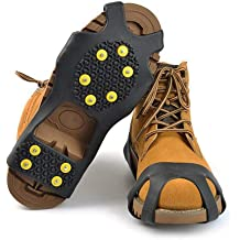 Ice /& Snow Grips Cleat Over Shoe//Boot Traction Cleat Rubber Spikes Anti Slip 10 Steel Studs Crampons Slip-on Stretch Footwear Youandmes Ice Grips