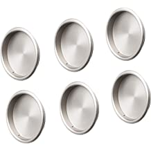 Chrome Plated Finish Pack of 5 Prime-Line Products MP6869 Mortise Closet Door Pull Outside Diameter Depth x 2-1//8 in 5//16 in Stamped Steel