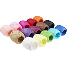 3 Rolls 984 Feet Red Green Kraft 328 Feet Each Roll Vancool Raffia Ribbon String Packing Paper Twine for Christmas