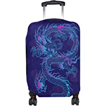 ALAZA Luggage Protector,Skull In Rose Elastic Travel Luggage Suitcase Cover,Washable and Durable Anti-Scratch Case Protective Cover for 18-32 Inches