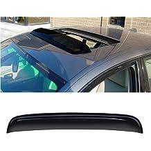 TuningPros WSV2-832 Sunroof Moonroof and Out-Side Mount 2.0mm Window Visor Deflector Rain Guard Dark Smoke 5-pc Set