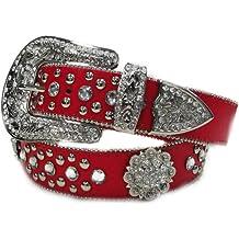 Deal Fashionista HEART Concho Metallic Western Rhinestone Bling Studded Buckle Belt