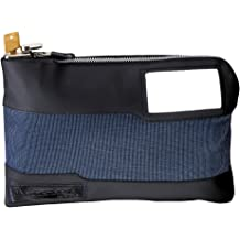 Saffiano Bank Bag by Sapphyr Luxury Real Leather Case with Pen Loop for Cashiers Checks and Currency