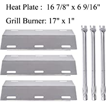 Stainless Steel Heat Plate /& Stainless Steel Burner Replacement Ducane 5 Burner 30500701,30500097,30400045,30500702,30400043,30400042 Gas Grill SA3041 5-Pack Htanch 30500701 5-Pack
