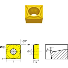 HHIP 6004-3433 SCMT//HM Square Positive Rake Carbide Insert 1//2 IC.0472 Radius
