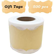 Hybsk Kraft Bakery Wheat Handmade Stickers 1.5 Round Total 500 Labels on a Roll