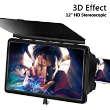 Hourui Newest Mobile Phone Stand Screen Amplifier HD Phone Screen Magnifier Eyes Protection Display 3D Video Screen Amplifier Folding Enlarged Expander Stand Black