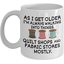 coffee cup for seamstress Mess with my fabric and Ill rip your seams out! Sewing coffee mug 11 oz crafter quilter funny
