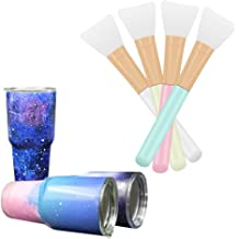 6 Pcs Magic Silicone Epoxy Brushes Applicators Set for Making Epoxy Glitter Tumblers Flexible Epoxy Sticks Specially-Made Brushes DIY Tool to Mix and Apply Epoxy Resin Acrylic Cups