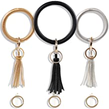 Lee-buty 300 pcs Key Chain Rings Split Key Ring Nickel Plated Metal Split Key Ring with Jump Rings and Tassel Pendants Bulk for Keychain Crafts Jewelry Making
