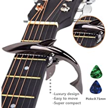 KLIQ Guitar Capo for Acoustic and Electric 6-String Guitars Black Chrome
