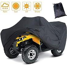ATV Quad Windproof Covers ATC Rain Cover UV Protects 4 Wheeler for Polaris Sportsman Outlaw Yamaha Grizzly Wolverine YFZ Honda Sportrax TRX Kawasaki (L) Waterproof ATV Cover