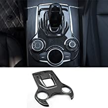 Qiilu Carbon Fiber Car Interior Air Conditioner Outlet Frame Cover Trim for Alfa Romeo Giulia
