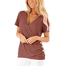 Cewtolkar Women Vest Button Tank Tops Hem Irregular Camisole Sleeveless Blouse Summer Shirt Casual Tunic Loose Tee