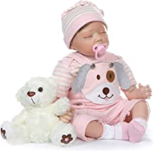 Nicery-RD55C259 Nicery Icradle Reborn Baby Doll Soft Simulation Silicone Vinyl Cloth Body 21inch 53cm Lifelike Vivid Boy Girl Toy for Ages 3