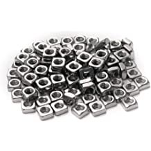 PSCCO 20pcs M4 Square Nuts 304 Stainless Steel Quadrate Nut Fasteners Accessories