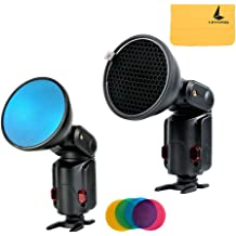 PQFYDS 20pcs Camera Filters Round Full Color Filter Set for DSLR Cameras Color Gels Filters Camera Photographic Gels Flash Filter Set for Godox