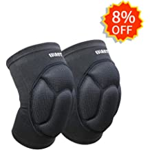 EULANT Protective Knee Pads /& Updated Version Thick Sponge Kneepads with Adjustable Straps Collision Avoidance Knee Protection for Kneeling Volleyball Martial Art Hiking Dancing Gardening