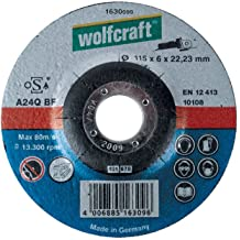Wolfcraft 1621300 115 x 2.5 x 22.23mm Cutting Discs for Stone with Depressed Centre