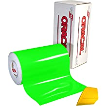 VViViD DECO65 Neon Fluorescent Yellow Permanent Adhesive Craft 12 x 5ft Vinyl Roll for Cricut Silhouette /& Cameo