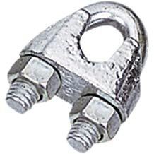 Uxcell a15121900ux1101 M4 Stainless Steel Wire Ropes Clip Cable Clamp Silver Tone 10pcs