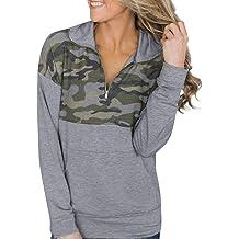 ZUong2 Womens Solid 1//4 Zip Pullover Light Hoodie Casual Long Sleeve Hooded Sweatshirt with Kangaroo Pockets