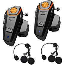 BT-S3 Motorbike Helmet Intercom up to 3 Riders 1000M Wireless Communication Systems Supports FM GPS Music Hands-Free Walkie-Talkie Soft Microphone, Single HuanGou Motorcycle Bluetooth Headset