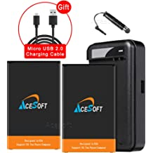 AceSoft 4400mAh Rechargeable Extended Slim Battery Universal Travel Dock Wall USB//AC Charger Stylus for LG V20 H910 AT/&T Android Phone