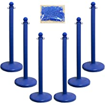 Chain Handicap Stanchion 2.5-Inch Diameter Pole Blue with Handicap Label and Reflective Stripe 96465 Pack of 1 40-Inch Height Mr