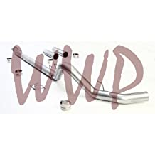 Downpipe Down Pipe Included DPF Exhaust System Kit 2003-2004 Dodge Ram 2500 3500 Cummins 5.9L Diesel Pickup Truck Performance Racing Off Road SS409 Stainless Steel 5 Turbo Back