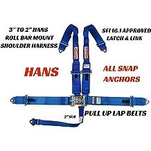 RACERDIRECT 5 Point JR Kids Racing Harness 5 Point Latch /& Link Floor Mount Universal Anchors Bolt and OR WRAP JR Dragster Quarter Midget Kart Black RDN302951506UNIA