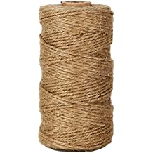 328 Feet Twisted Twine String Packing String for Crafting Creamy Gardening and DIY Projects Gift Wrapping 3mm Jute Twine