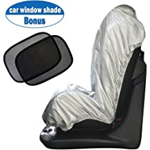 27.5 in Oxford Cloth Pearl Aluminum Film Heat Resistant Effectively Protect Your Car Interior from Aging Horse Paint Car Sunshade 51.2