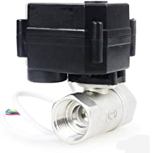 HSH-Flo Brass 3 Way 110-230VAC 1//4 DN8 CR4-01 4 Wires On//Off Control Electrical Motorized Ball Valve