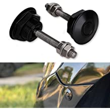 XtremeAmazing Universal Push Button Low Profile Hood Pins Lock Quick Release Latch Car Lock Clip Hood Bumper Kit 1.25 Inch Set of 2