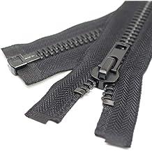 24 Silver Leekayer #10 24 Inch Zippers for Jackets Sewing Coats Crafts Silver Separating Jacket Zipper 60cm Metal Zipper Heavy Duty