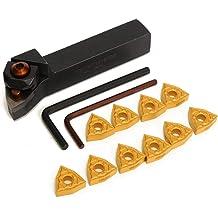 heaven2017 MGEHR1616-3 CNC Lathe Cut-Off Tool Holder+MGMN300 Carbide Insert Blades Set