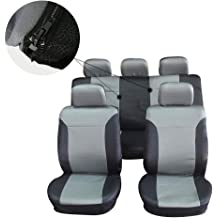 cciyu Universal Seat Cover w//Headrest Covers Black//Gray 100/% Breathable Car Seat Cover Washable Auto Covers Replacement fit for Most Cars