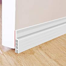 Weather Stripping for Doors and Window Weatherproof Soundproof Self Adhesive Door Strip Bottom or Side Width 45mm Silicone Seal Strip for House and Glass Shower Door Seal Strip16.4Feet