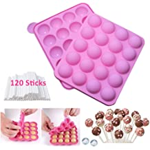 100 Twist Ties in Mix Colors Lollipop,Cake Pop and Party Cupcake BPA Free Silicone Cake Pop Mould with 100 Cake pop Sticks+100 Treat Bags Great for Hard Candy