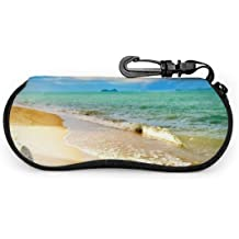 Eyeglass Case Tropical Summer Ultra Light Neoprene Protective Case For Glasses And Sunglasses Width 6.7inch Height 3.1inch