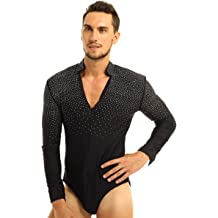 YONGHS Mens One Piece Sleeveless Skin-Tight Unitards Bodysuit Catsuit Lycra Spandex Dancewear